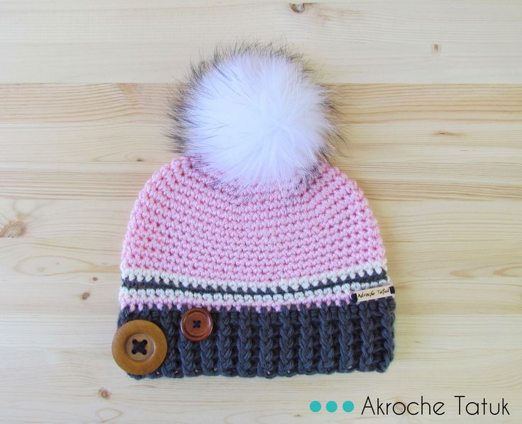 Tuque patron au crochet crochet hat pattern