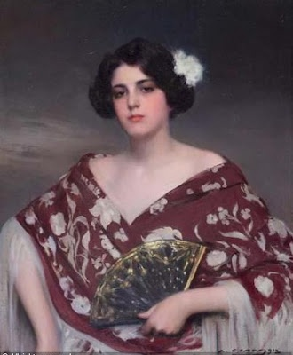 Ramon Casas i Carbó (Catalan Spanish, 1866-1932) - Portrait of Julia