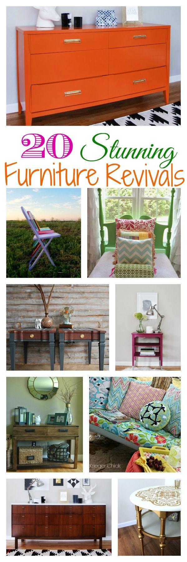20 Stunning Furniture Revivals {DIY Challenge Features} - The Happy Housie