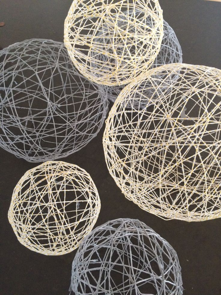 String twine balloon decorations diy tutorial doilies
