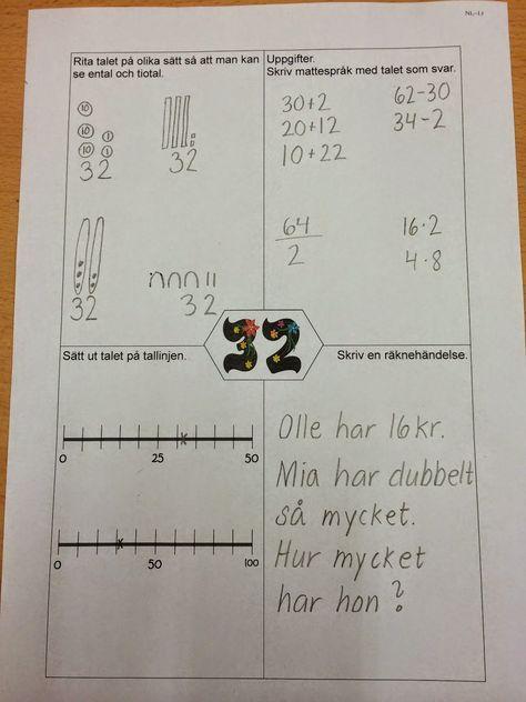 Matematik åk 1-3. Uppgifter i klassrummet.
