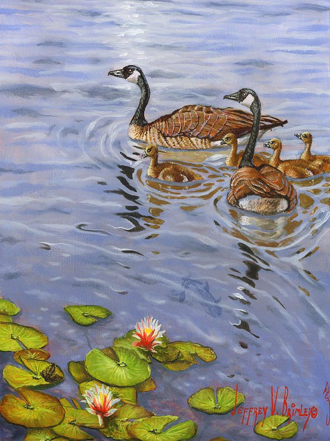 Family outing painting by jeff brimley family outing for Art print for sale