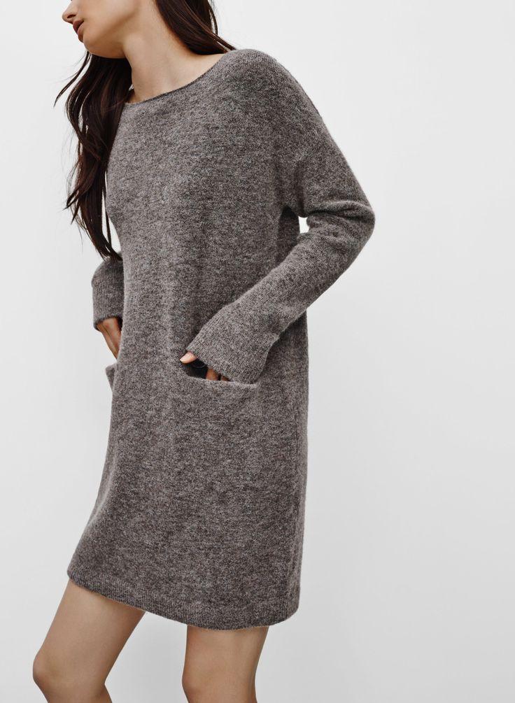 17 Best ideas about Knit Dress on Pinterest  Leather leggings ...