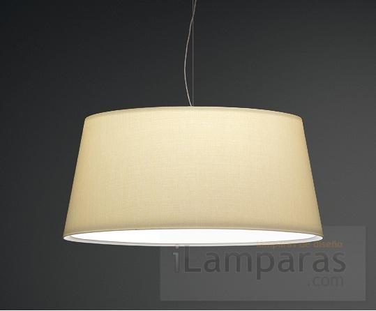 Warm lampara colgante maxi pantalla screen lacado blanco - Pantalla lampara techo ...