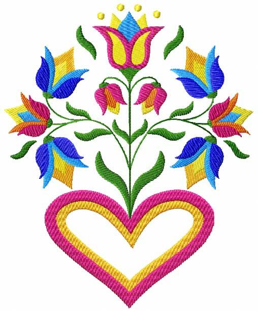 132 best images about folk art on pinterest floral for Embroidery office design version 7 5