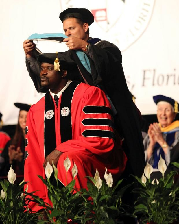 """in case you were wondering what Shaq has been up to, the answer is """"earning a doctorate in education."""" kinda cool, actually."""