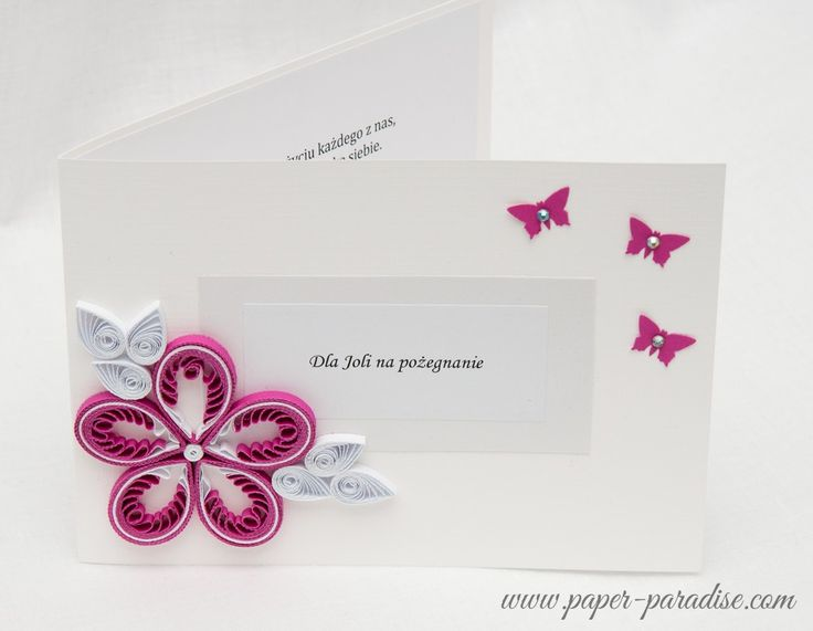 Quilled flowers - pink