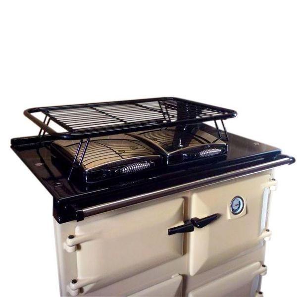 Drying rack airer for use with Rayburn range cooker (gloss black)   Blake & Bull