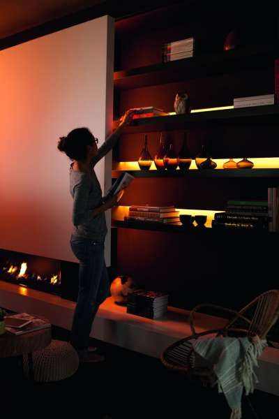 Gemtliche Indirekte Beleuchtung Im Wohnzimmer