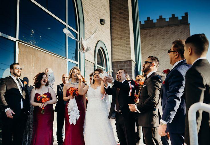 #weddingchurch #bigday #weddingday #torontoweddingphotographer #weddingphotographer #perfectmoment #releasingdoves #doves #vows #labenesebride #labenesewedding