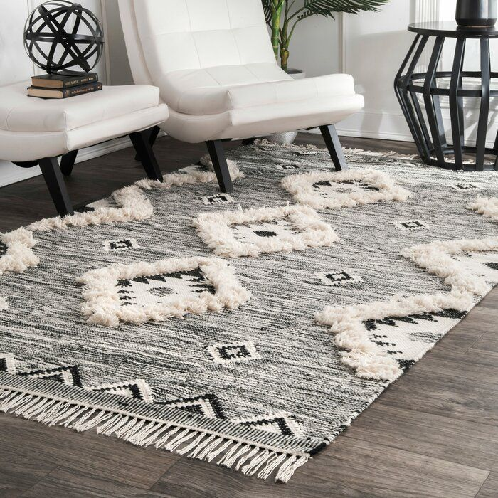 Cawley Hand Knotted Wool Gray Area Rug Reviews Joss Main In 2020 Fringe Rugs Area Rugs Grey Area Rug