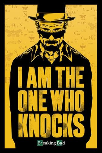 Poster BREAKING BAD - Who Knocks - http://rockagogo.com                                                                                                                                                                                 More