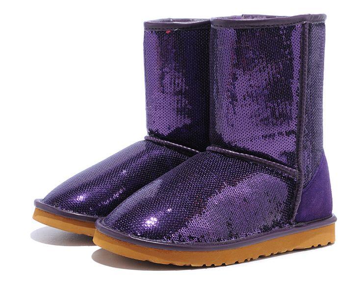UGG Classic Short Sparkles 3161 Boots Purple