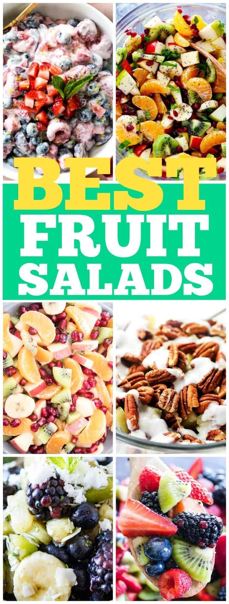 BEST FRUIT SALAD RECIPES that will fill your bowl with absolute deliciousness.The options are endless and all of the recipes easy to make! #dashofsanity #fruits #fruitsalad #salad #summer #food