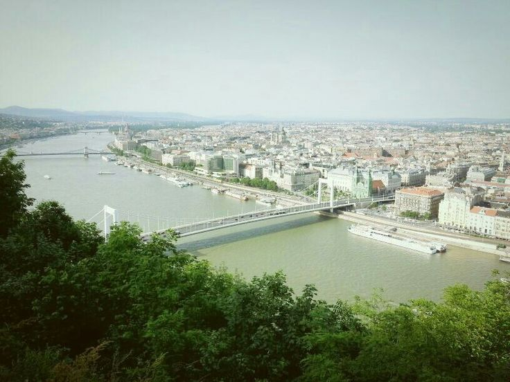 Budapest - we cycled from thw Tower to the top of Gellert hill tonsee this. Totally worth it