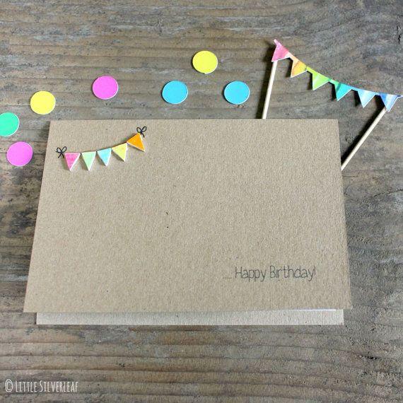 Handmade Birthday Card  //  Happy Birthday Card  //  Bright Bunting Birthday Card