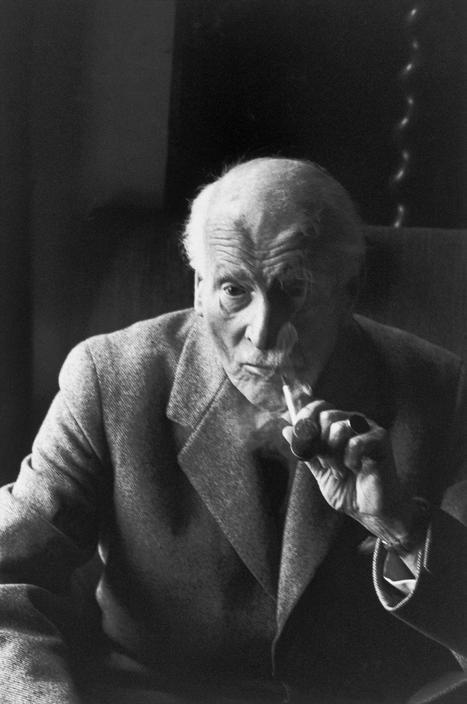 Carl Jung, Kusnacht près de Zurich, 1959.