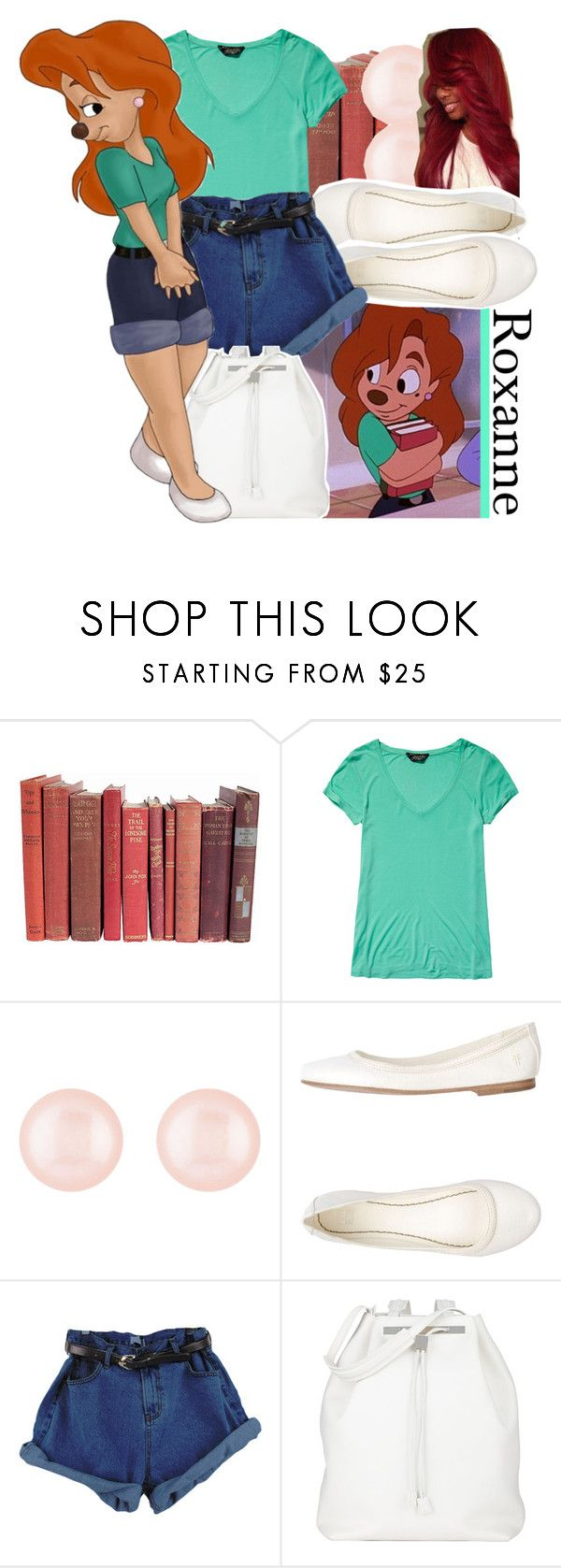 """""""A Goofy Movie: Roxanne"""" by yeauxbriana ❤ liked on Polyvore featuring Scotch & Soda, Henri Bendel, Frye and The Row"""