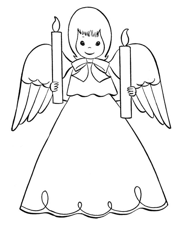 19 best christmas angel coloring page images on pinterest ... - Coloring Pages Angels Kids
