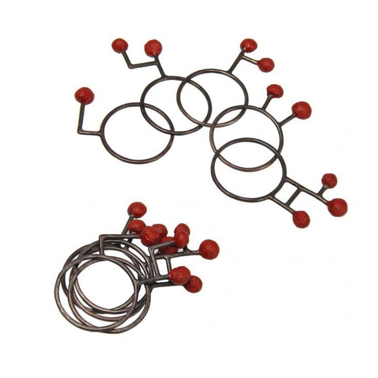 Liisa Hashimoto set of rings -silver - Mix Art Gallery www.mixartgallery.nl