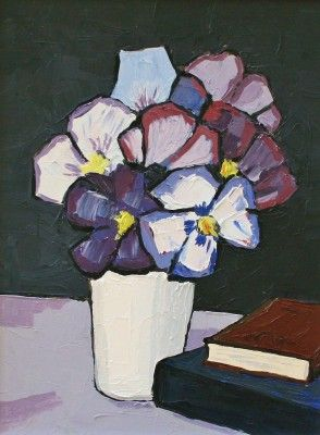 Pansies by David Barnes, Red Rag Gallery, Type: Oil Size: 16 x 12 inches