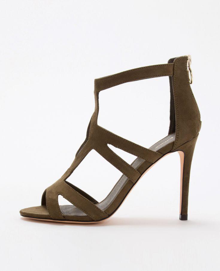 Sandales vertes à talons