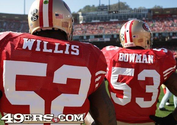 LB Patrick Willis and LB NaVorro Bowman