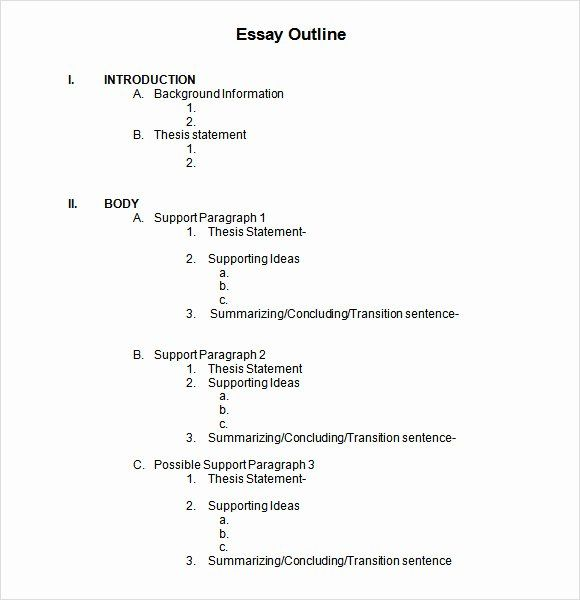 Training Course Outline Template For Word Writing Outline Essay Outline Template Word Template