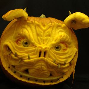 Drool is a 3D Pumpkin Carving by Theressa Wright