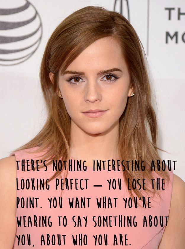 She enjoys fashion… | 21 Amazing Emma Watson Quotes That Every Girl Should Live Their Life By
