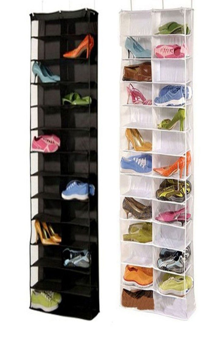 26 Pair Over Door Hanging Shoe Rack Shelf Storage Organiser Pocket Holder Hook Shoe Rack With Shelf Hanging Shoe Rack Wall Mounted Closet