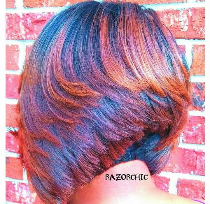 Razor Chic Atlanta!  Beautiful cut and color!