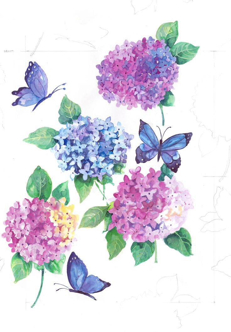Our Hydrangea design will be printed onto 100% Linen Base cloth for upholstery and drapery - launching in July
