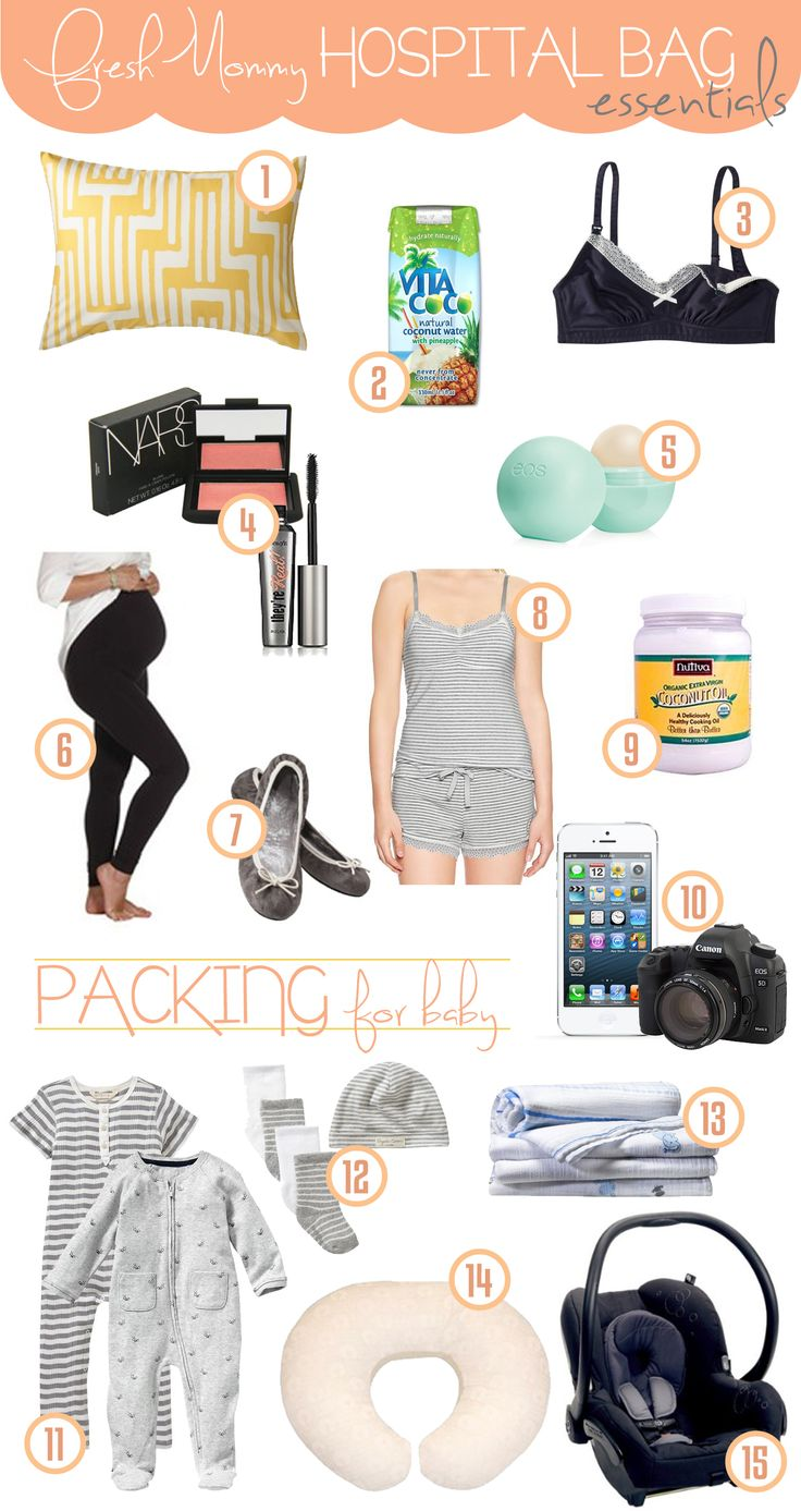Hospital Bag Essentials... make sure your go-bag is ready! #Maternity #Baby