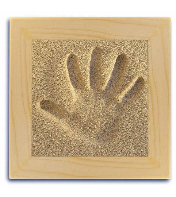 SAND MEMORIES Empreinte main avec cadre