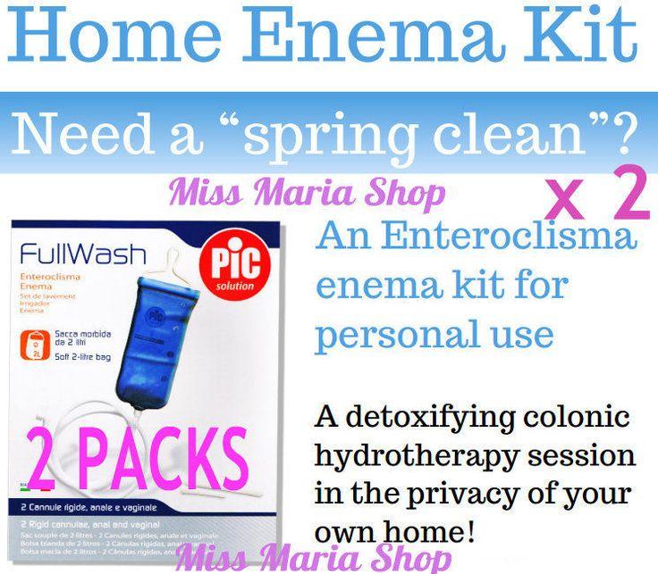 Enema KITS Colonic Irrigation Reusable Bag Detox Douche Home Kit x2 Private List