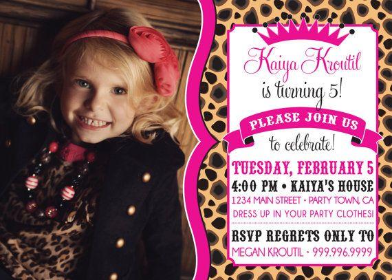 16 best Animal Print Birthday Party images – Cheetah Birthday Invitations