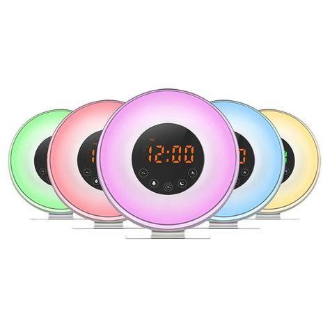 LED Alarm Clock Wake Up Light Alarm Clock Sunrise Simulation Alarm Clock With USB Charger