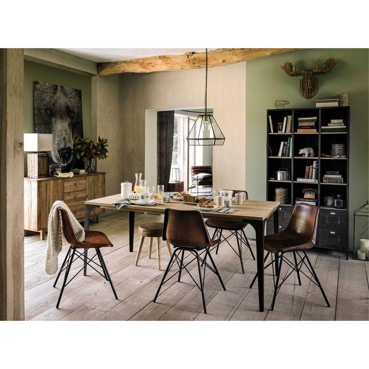 Solid mango wood dining table W 180cm Metropolis | Maisons du Monde