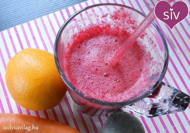 Cékla-répa-narancs turmix (smoothie)