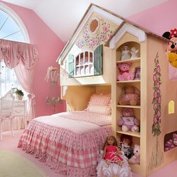 Chic Little Girls' Bedroom Ideas to Try at Home: Charming Traditional Kids  Bedroom Design For Little Girls Bedroom Ideas With Pink Wall Design And  Doll Home ...