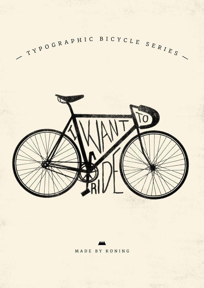 Koning - I Want to Ride My Bike - Made By Koning - Posters