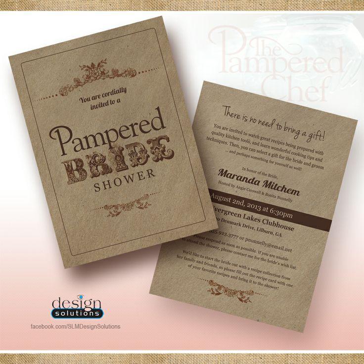 blank beach bridal shower invitations%0A pampered chef bridal shower invitations  Google Search