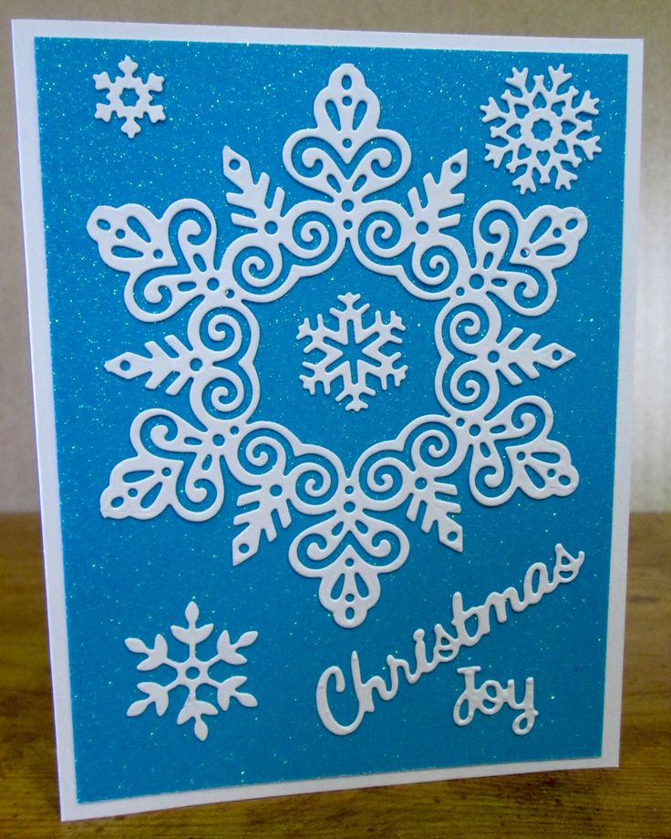 SMS - Simply Defined Blue and White Snowflake Christmas Card