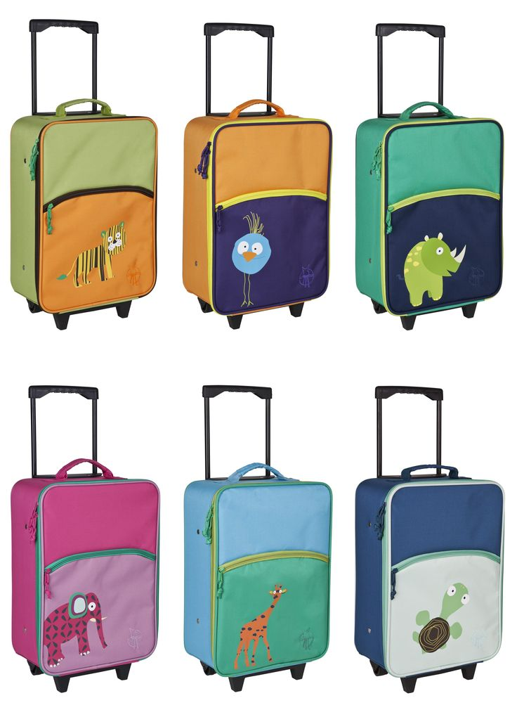Traveling with a child is EASY with Lassig's Wildlife Trolley suitcase!  A travel must have for parents!