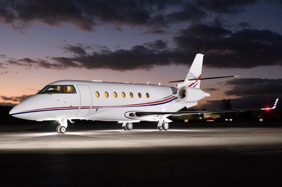 The Gulfstream G200 jet aircraft is manufactured by Gulfstream Aerospace, has a normal range of 3130 and a maximum range of 3530.