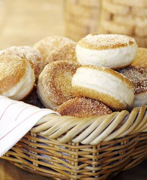 The famous English muffins from Model Bakery on Main Street in St Helena, Napa