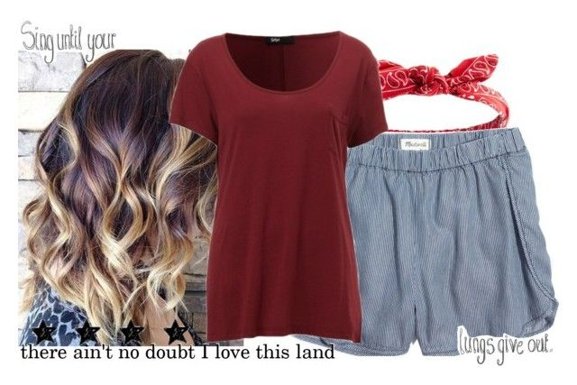 """""""4th of July music (read desc)"""" by gabbs-mckenzie ❤ liked on Polyvore featuring Charlotte Russe, Madewell and country"""