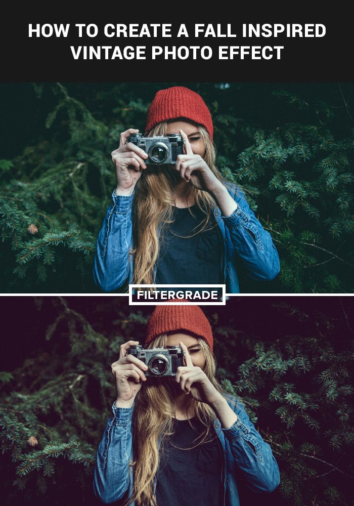 AWESOME website for PHOTOSHOP actions PLUS< FREE photo editing tutorials, like this one  ;-)   fall inspired vintage photo effect | filtergrade.com