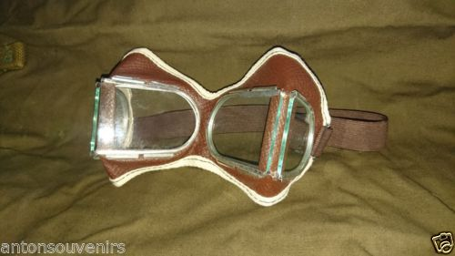 Authentic Soviet Army Glasses,   Aviation,Pilot,Tankman,Protective ,Goggles, WW2   These items are from warehouse Soviet army and might have some storage wear !  Not use. With warehousing Soviet army  Made in the Soviet Union. #russianarmy #russian #russiansouvenirs #russianstyle #army #military